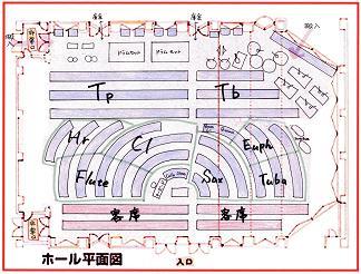 ホール配置図