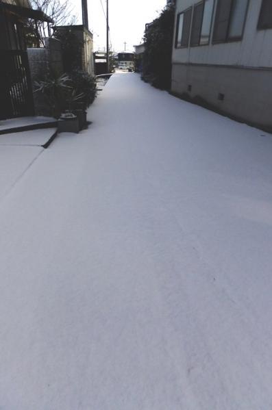 自宅前道路