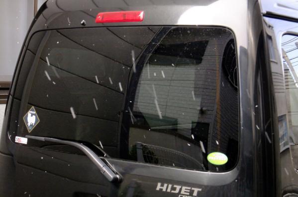 ハイゼットに降雪