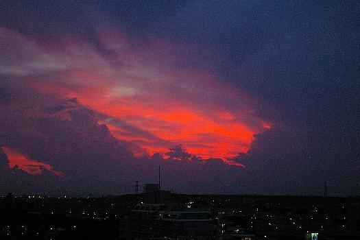 妖しい夕焼け