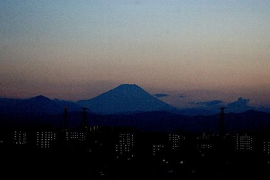8月1日夕焼け富士