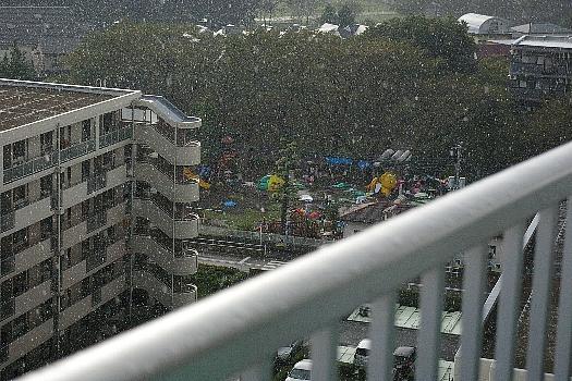 運動会・雨