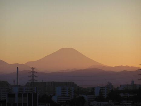 夕焼け富士10月