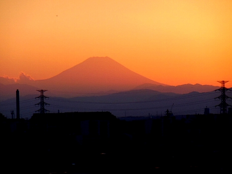 立冬の富士