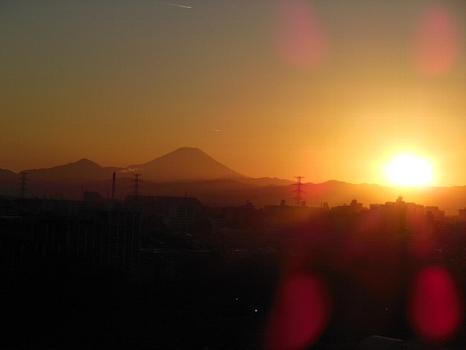 富士夕やけ