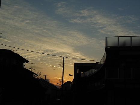 練馬・大泉の夕焼け