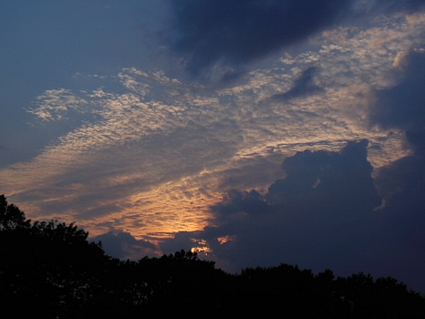 ある日の夕焼け雲