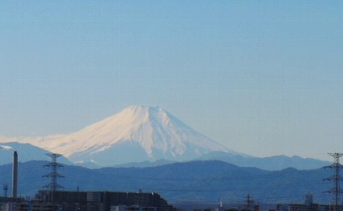 年賀状の富士