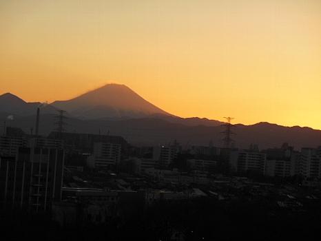 富士の向こうの夕焼け