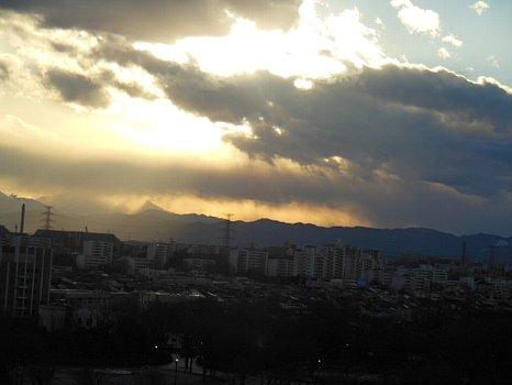 曇天雲がかりのの富士2