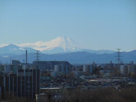 昼の冬富士