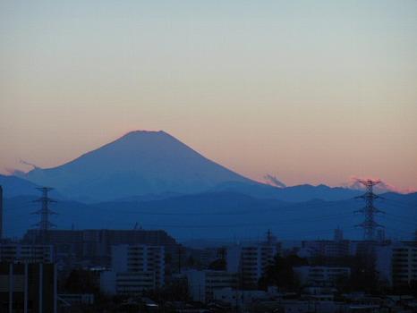 富士のシルエット