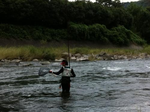 大山鮎釣り3