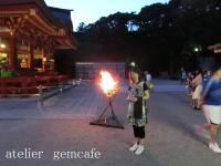鶴岡八幡宮ーかがり火