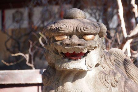 白山神社の狛犬 (C)表参道・青山・原宿・外苑前・渋谷・東京都内・源保堂鍼灸院 肩こり・腰痛・生理痛・頭痛など