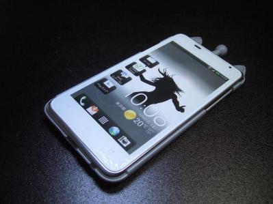 【012】au HTC ISW13HT-宇宙ネコ携帯ケース