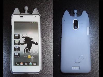 【B-02】au HTC ISW13HT-宇宙ネコ携帯ケース
