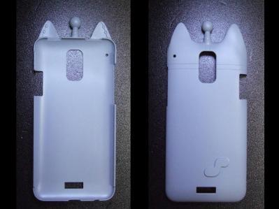 【B-01】au HTC ISW13HT-宇宙ネコ携帯ケース