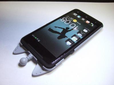 【023】au HTC ISW13HT-宇宙ネコ携帯ケース