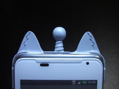 【015】au HTC ISW13HT-宇宙ネコ携帯ケース