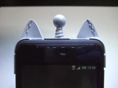 【032】au HTC ISW13HT-宇宙ネコ携帯ケース