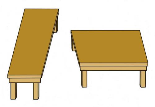 シェパードのテーブル