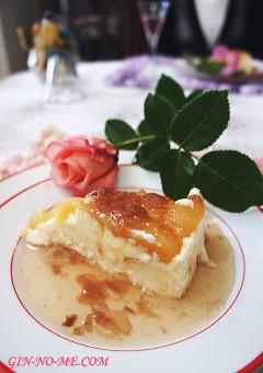 薔薇ジャムたっぷり チーズケーキ
