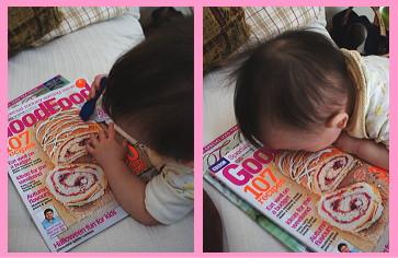 食いしん坊の息子 写真のケーキにつらいつく・・・