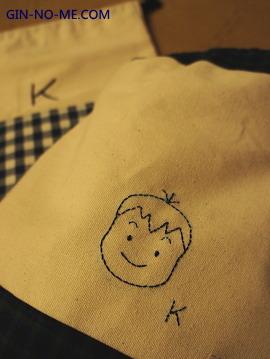 保育 息子のオムツ袋とお着替え袋