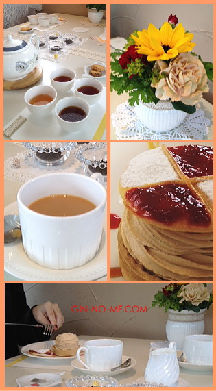 紅茶教室の様子 銀の芽紅茶店