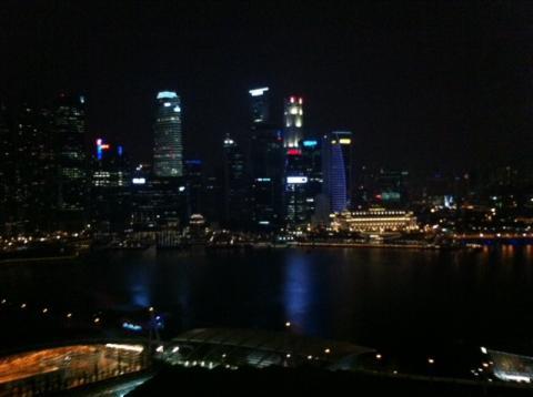 MBS窓から見える夜景