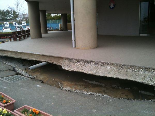 地震後茨城の状況 潮来市