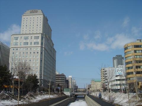 北一条から北を望む(2010.03.30)