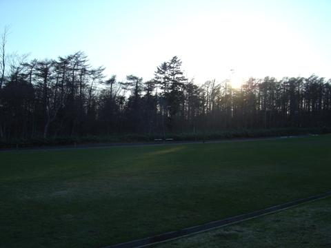 職場地方の夕陽(2010.04.26)