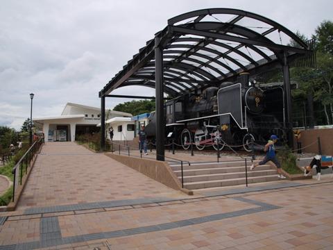 清里駅のSL(2010.08.08)