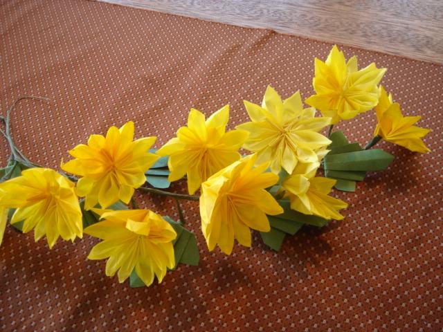 ハート 折り紙:折り紙菊の花折り方-good07kamiya.blog48.fc2.com