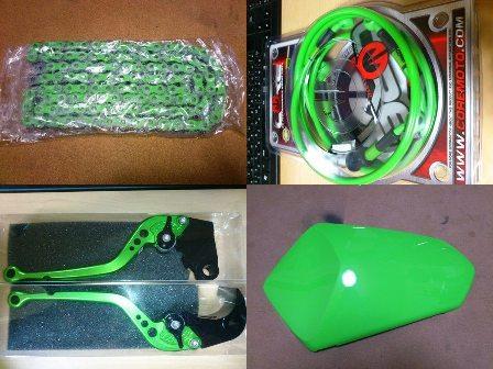 Z750 ライムグリーン化