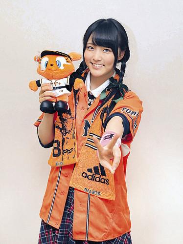 大森美優(16) 巨人優勝を祝福 「菅野選手を見習って頑張りたい。坂本選手はメンバーの間でもカッコイイと話題です」
