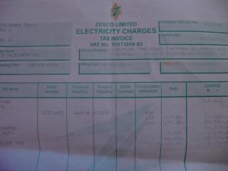 電気の請求書