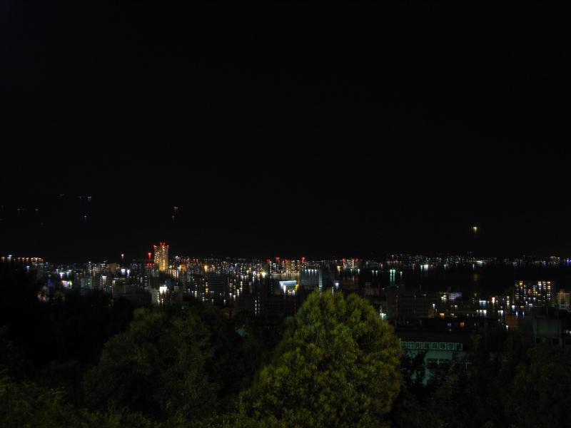 琵琶湖を望む夜景が綺麗ですた☆