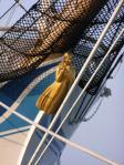 東京芸術大学の教授が制作した船首像『紺青』です