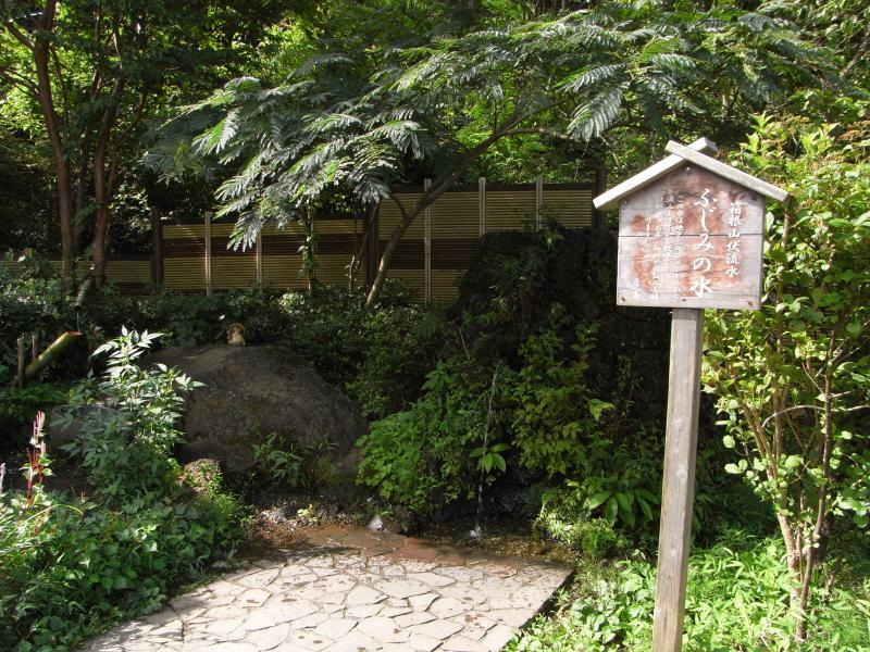 箱根山の伏流水で真夏でも冷たいお水が頂けますw