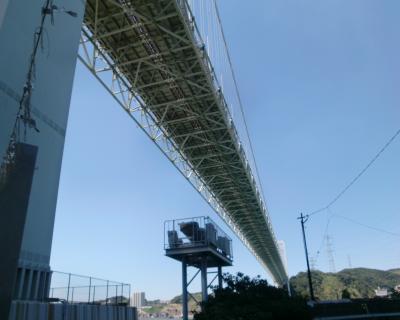 関門橋 下 新