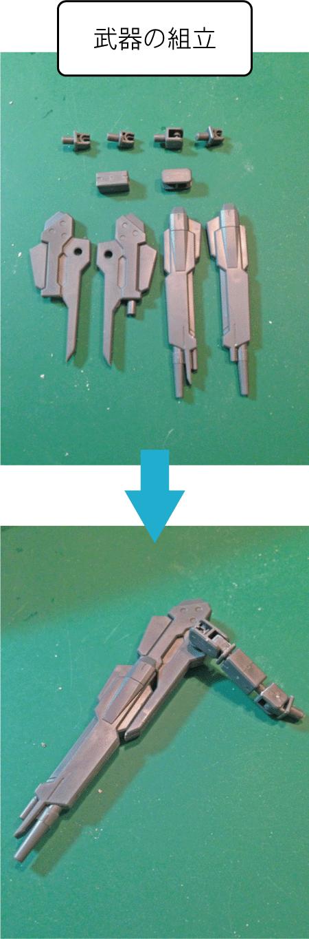 HG パワジムカーディガン 武器の組立(2)