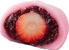 イチゴ大福断面図