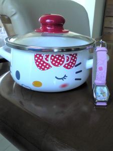 キティ鍋&ケアベア腕時計