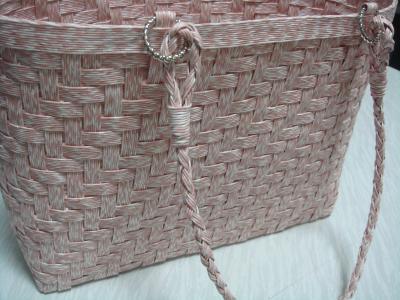 桜色のあじろバッグ 2