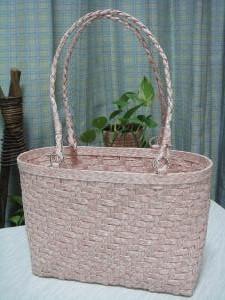 桜色のあじろバッグ 1