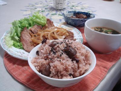 天津甘栗赤飯 3