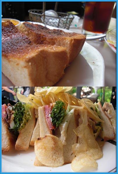 シナモントーストとクラブハウスサンド